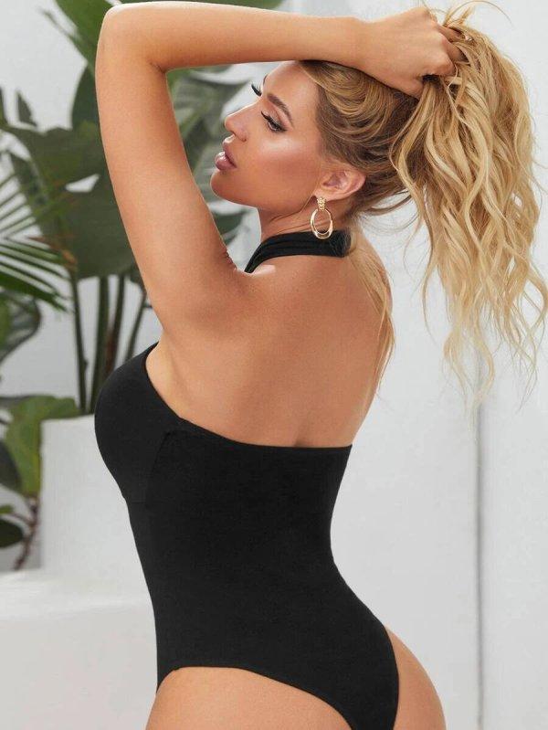 body femme noir dos nu