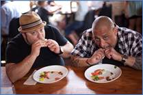 "Frank Coraci (l.) and Sam DeMarco (r.) search for America's tastiest and most creative comfort food in ""Chow Masters"""