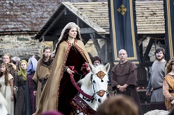Princess Kwenthrith (Amy Bailey) arrives at Wessex