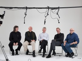 Steve Hackett, Peter Gabriel, Tony Banks, Mike Rutherford, and Phil Collins in Genesis - Sum of the Parts