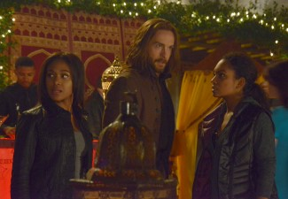 Even Jenny notices things aren't quite kosher with Ichabod and Abbie as they infiltrate Theo Knox's party.