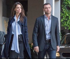 Katie Holmes as Paige; Liev Schreiber as Ray Donovan in Season 3 of Ray Donovan. Photo credit: Michael Desmond/SHOWTIME