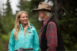 Singer Jewel (aka Jewel Kilcher) returns to her family home. (L-R) Jewel with her father Atz Kilcher.