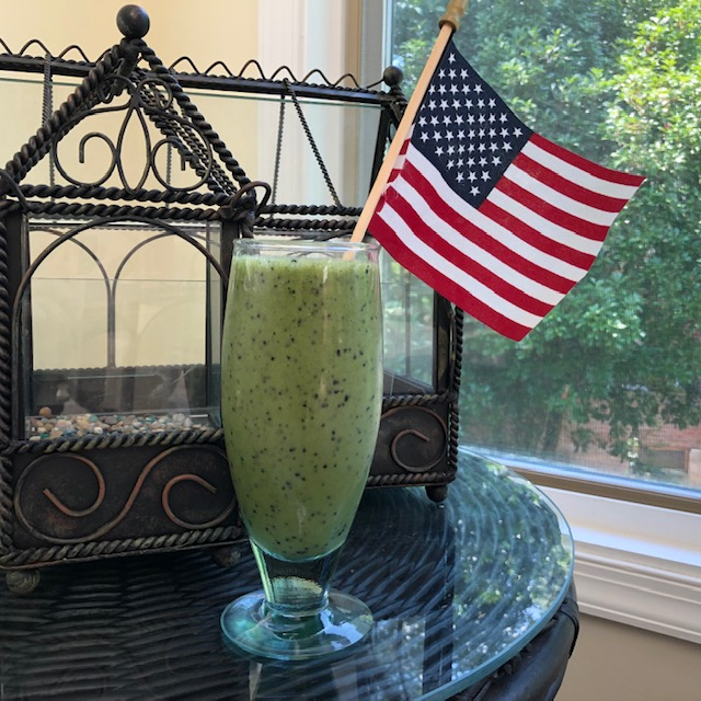 Red, White, Blue (and Green!) July 4th Fertility Smoothie