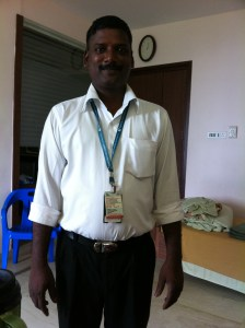 Head of Pantry at Apollo Hospial, Chennai. He took care of me above and beyond....