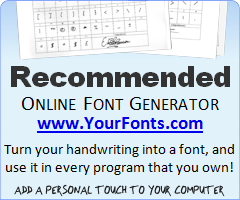 Your Fonts - Font Generator