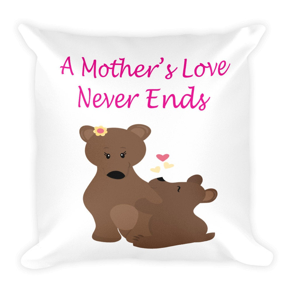 never ends bears pillow mothers day