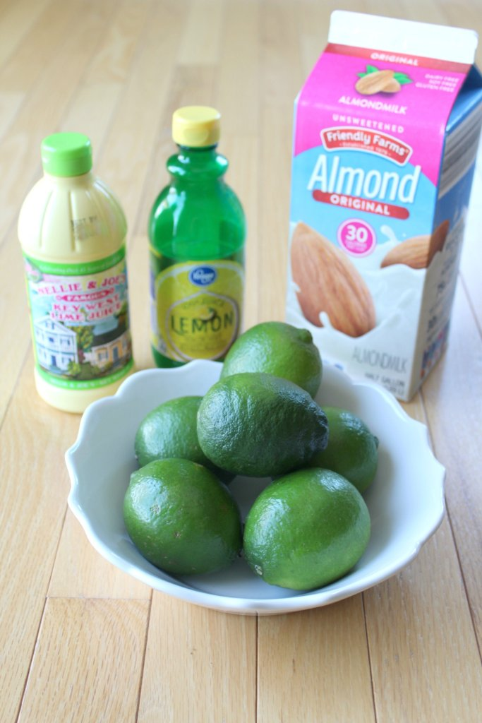 ingredients to make a Disney lime dole whip