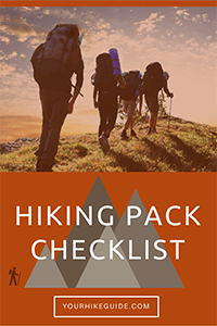 hiking checklist