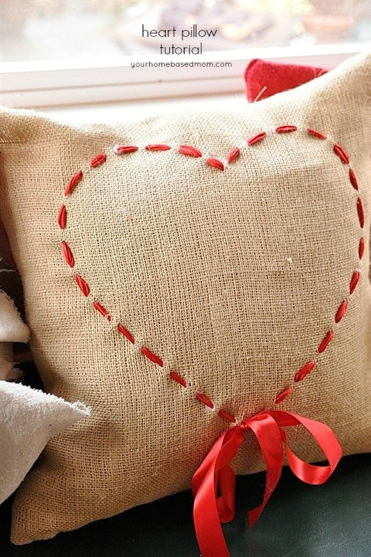 Valentine pillow tutorial, love heart coloring pages