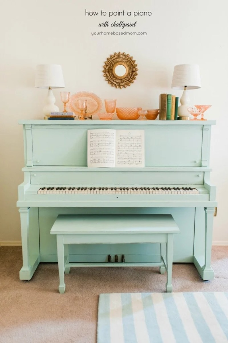 chalk paint piano