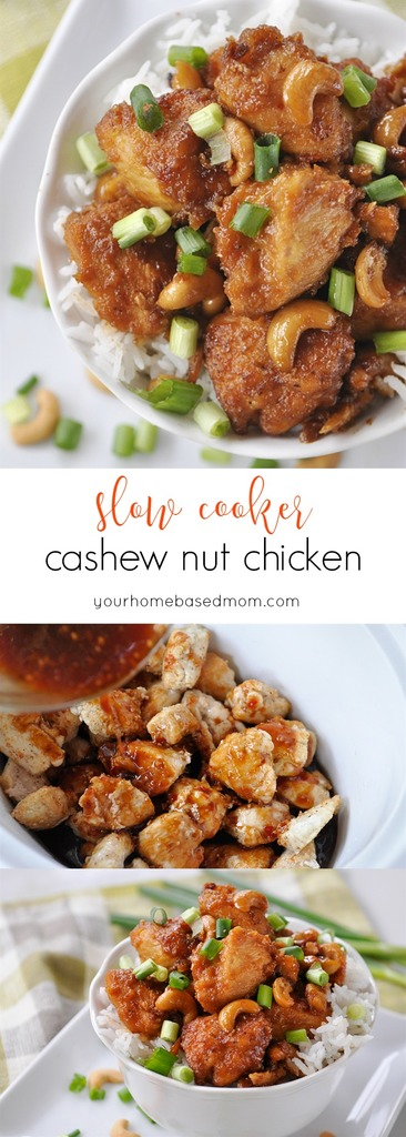 Slow Cooker Cashew Nut Chicken Recipe via Your Homebased Mom