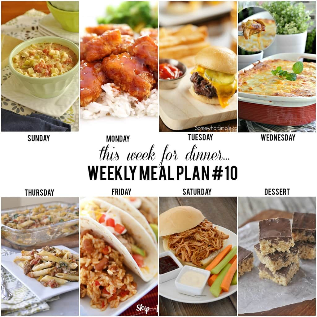 This Week For Dinner Weekly Meal Plan 10