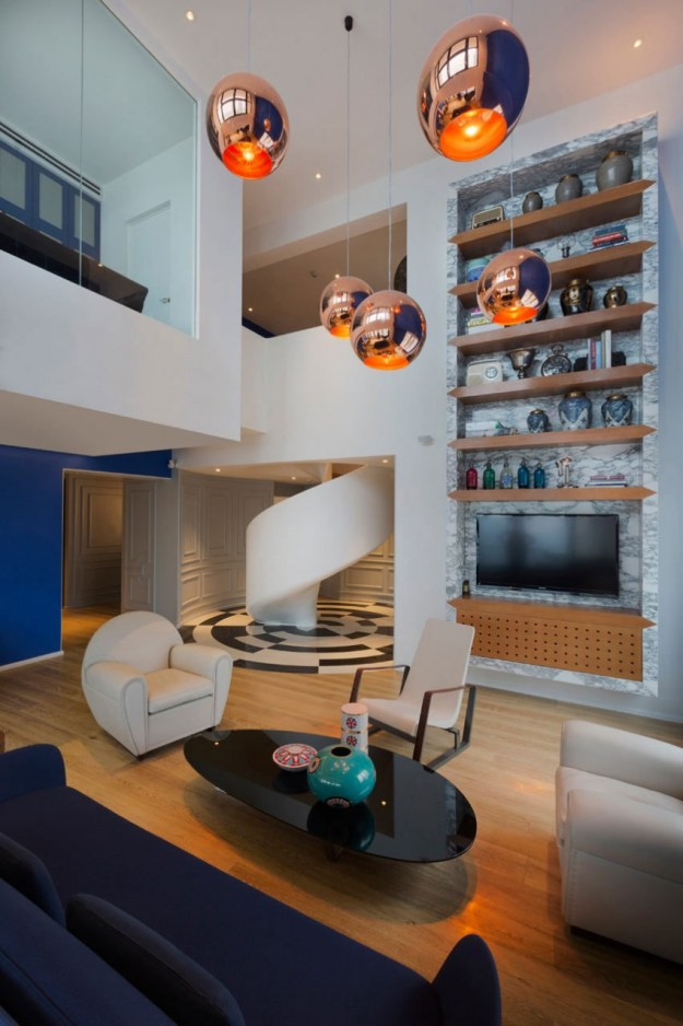 Blue Penthouse designed by Dariel Studio 6