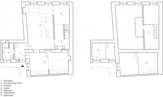 Via delle Orfane designed by CON3STUDIO 14
