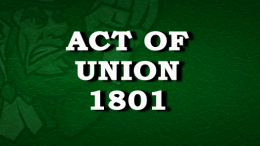 Act Of Union 1801
