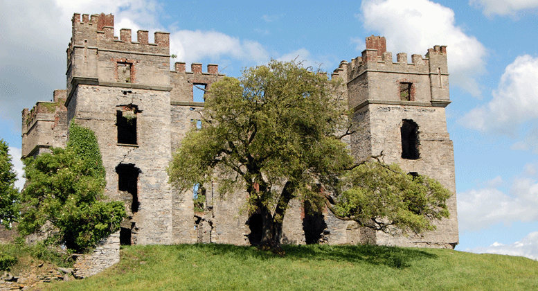Raphoe Castle in Ireland