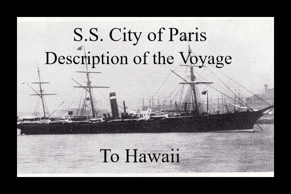 SS City of Paris to Hawaii
