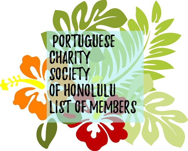 charity society member list honolulu