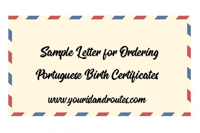 portuguese sample letter birth certificates