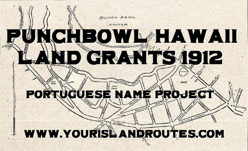 punchbowl hawaii land grants 1912