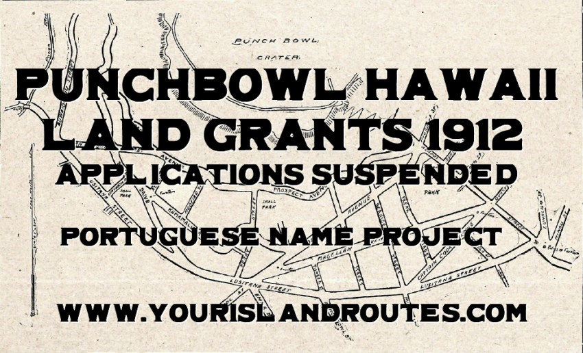 punchbowl land grant 1912 hawaii suspended