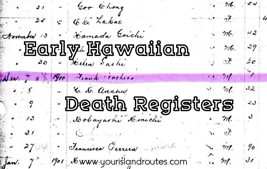early death records hawaii