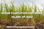 Sugar Plantation Histories:  Island of Kauai