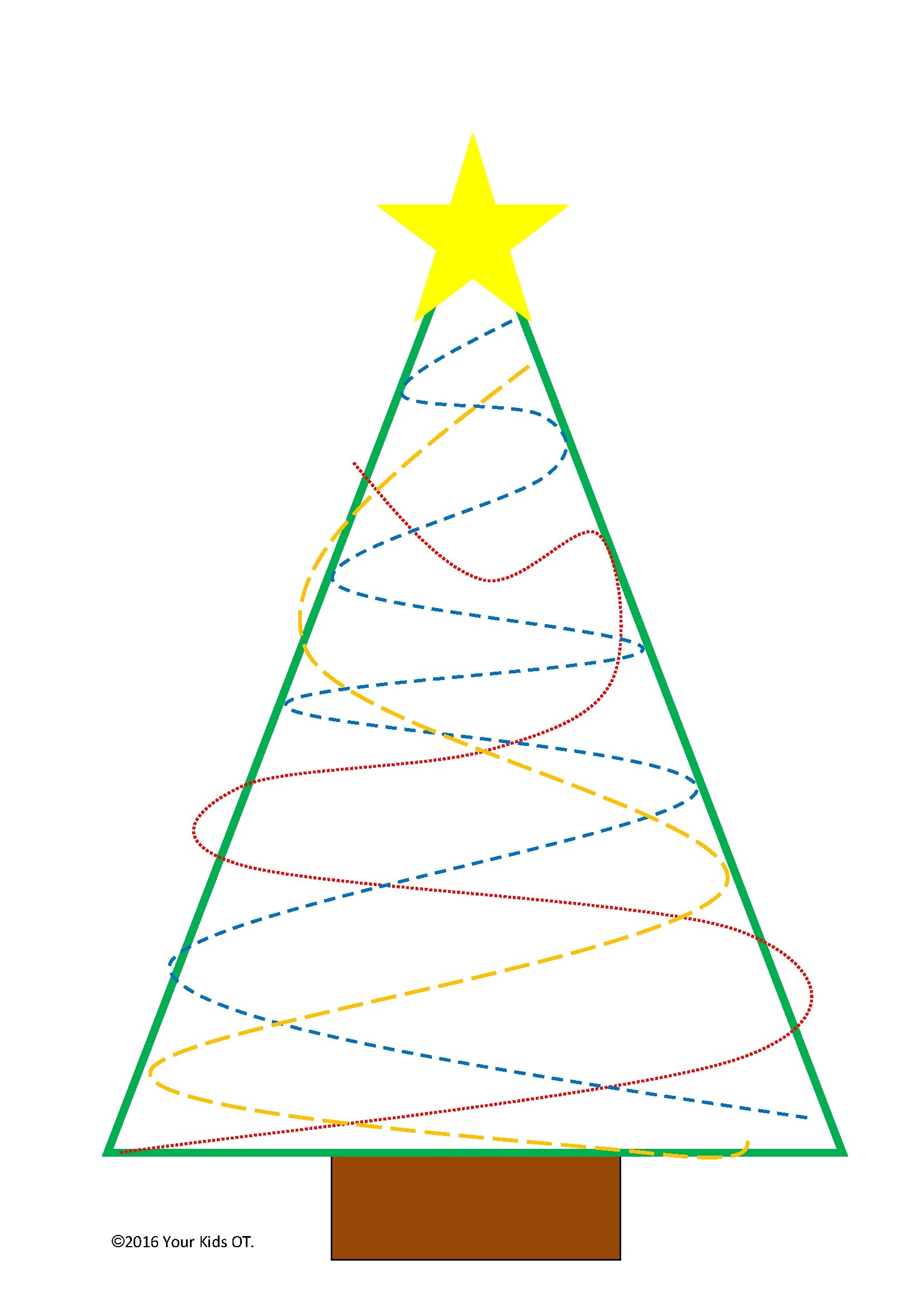 Free Christmas Tree Ot Printable Pack
