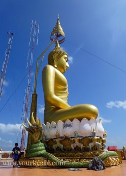 The golden Buddha is magnificent.
