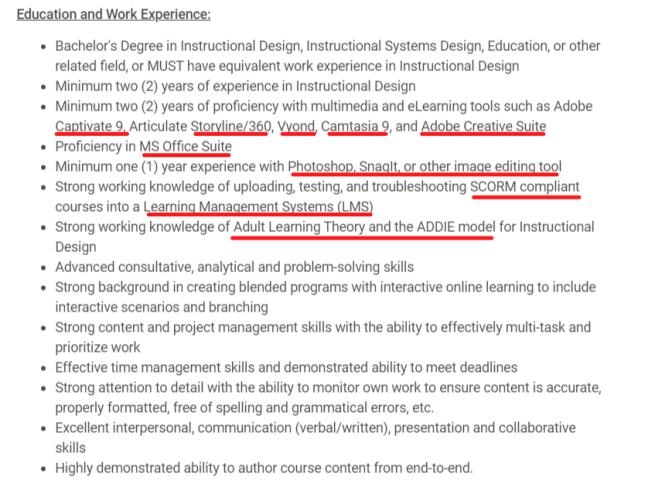 job description for instructional designer