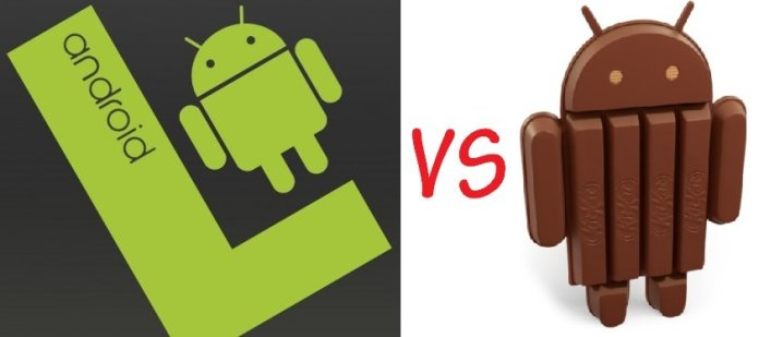 Android L vs KitKat