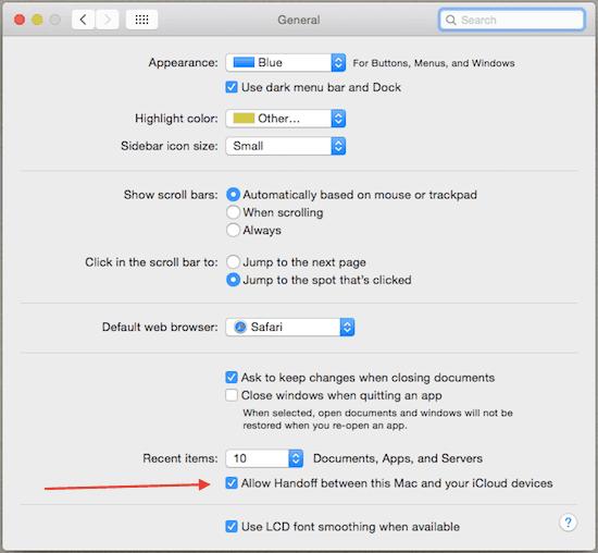 Mac-Enable-Handoff