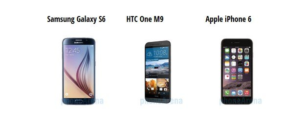 S6 vs M9 vs iPhone 6