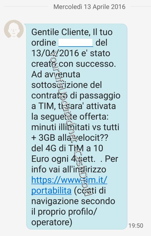 Offerta TIM 1000-4GB a 10 euro
