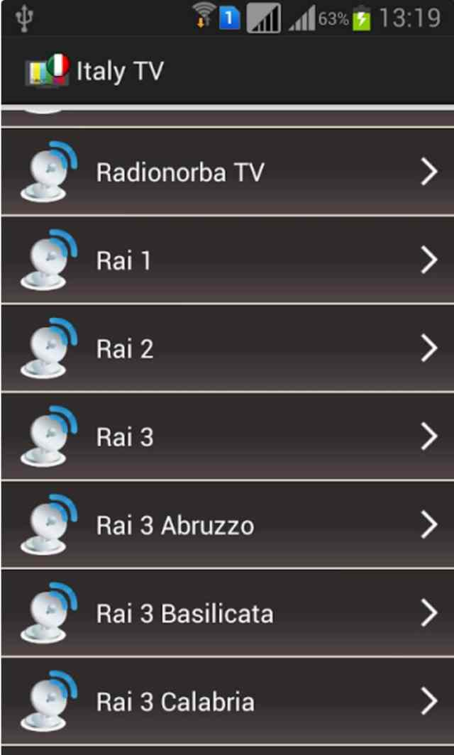 guardare la televisione in streaming su Android