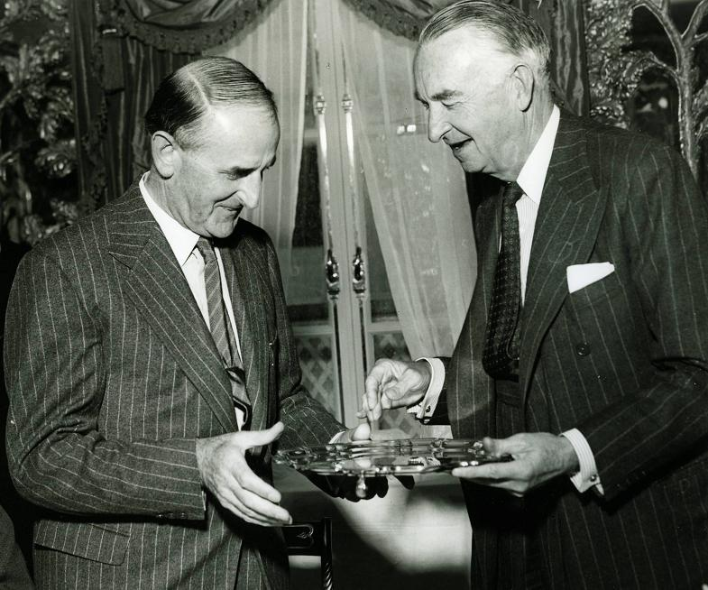 Your Local Guardian: Sydney Camm and Tom Sopwith in 1953, the year both were knighted