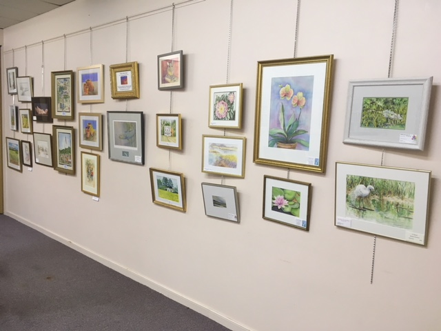 Watercolors Art Show at Deltaville Branch Library