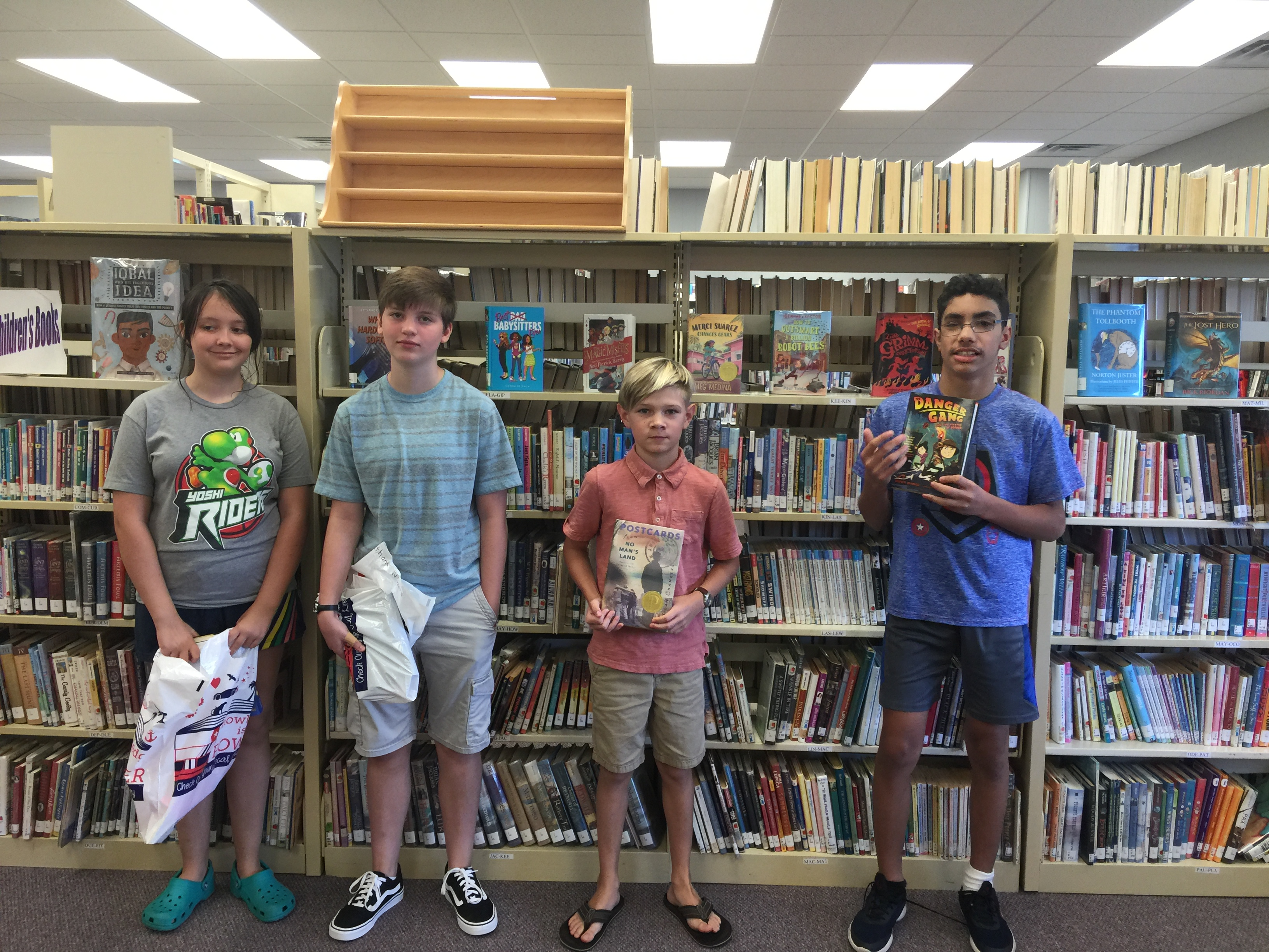 Summer Reading Contest Winners for Middle School