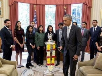 President Obama Lit The 'FIRST EVER DIYA'