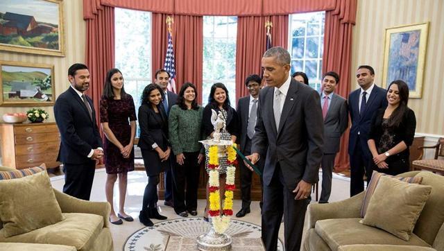 President Obama Lit The 'FIRST EVER DIYA'