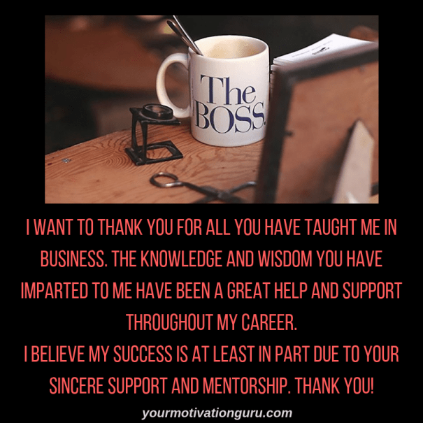 1 Thank You Message For Boss BEST BOSS APPRECIATION QUOTES