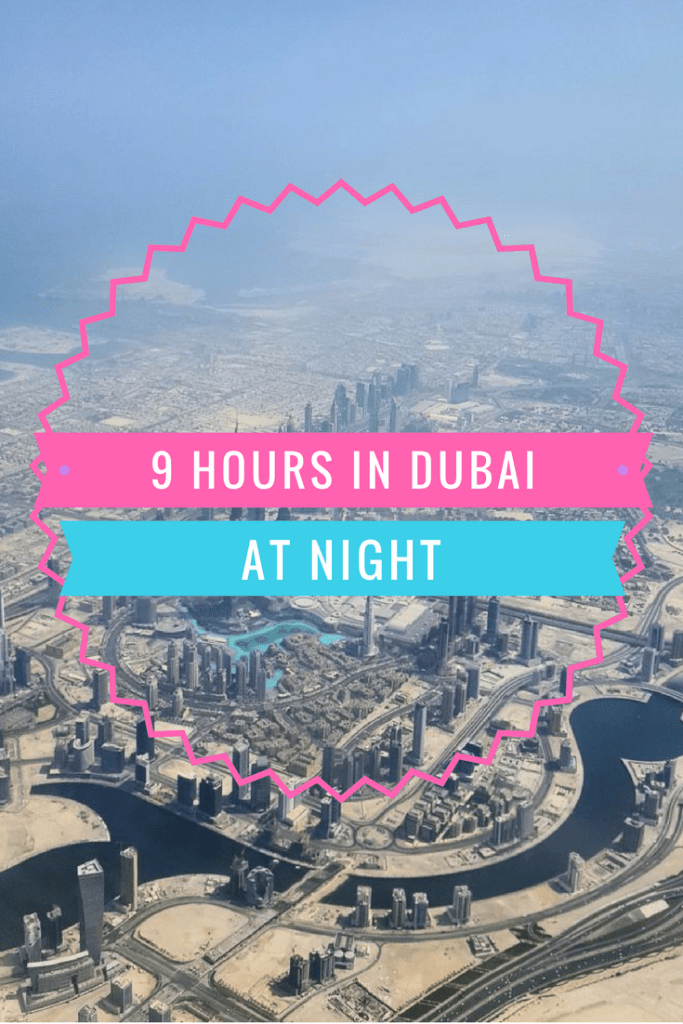 Dubai Stopover at night