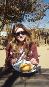 The bike tour began with some Bunny Chow. I finally felt like a proper tourist!