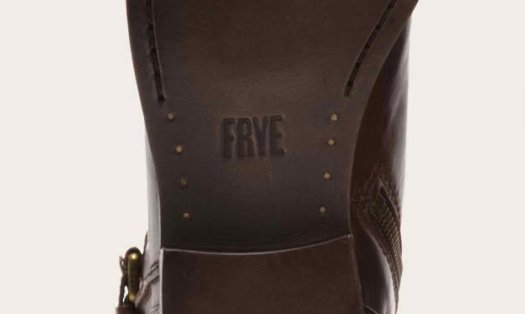 The outsoles display the brand name FRYE in bold capital letters