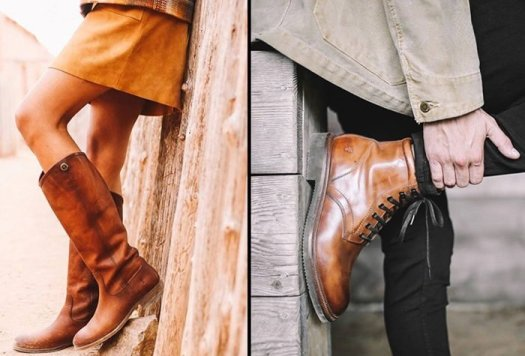 High-quality Frye leather boots for men and women