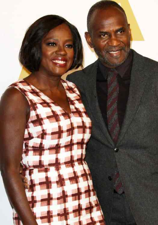 Viola Davis poses with her husband of almost 14 years, Julius Tennon