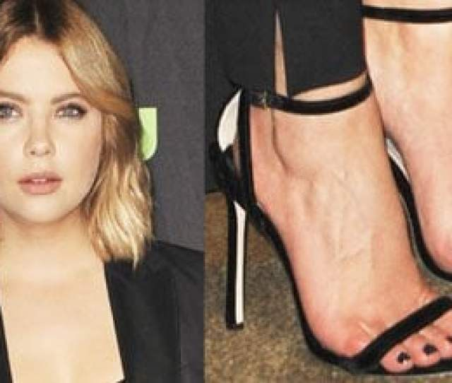 Ashley Benson Attends Paleyfest In Suit And Jimmy Choo Minny Sandals