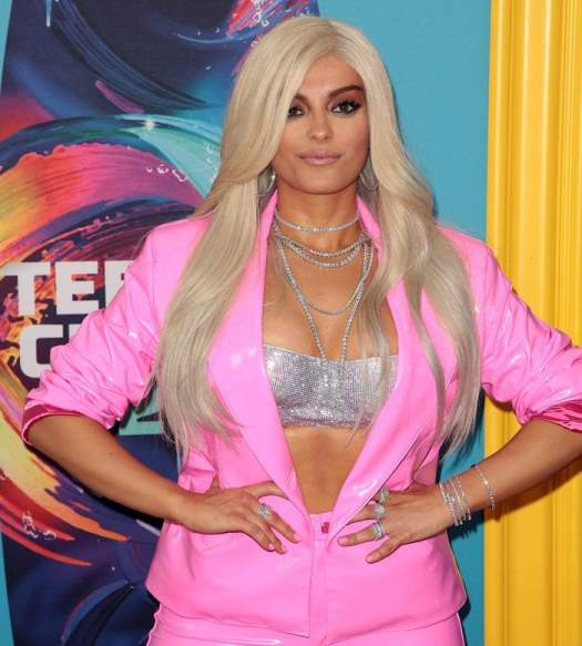 Bebe Rexha emulates Barbie at the 2018 Teen Choice Awards held at The Forum in Inglewood, California, on August 12, 2018