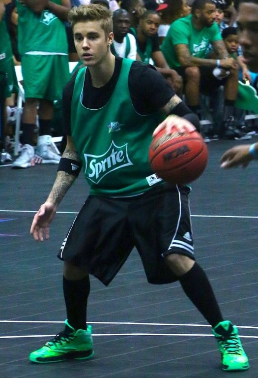 Singer Justin Bieber attends the Sprite Celebrity Basketball Game during the 2014 BET Experience At L.A. LIVE on June 28, 2014, in Los Angeles, California
